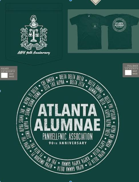 Atlanta Panhellenic 90th Anniversary T-Shirts