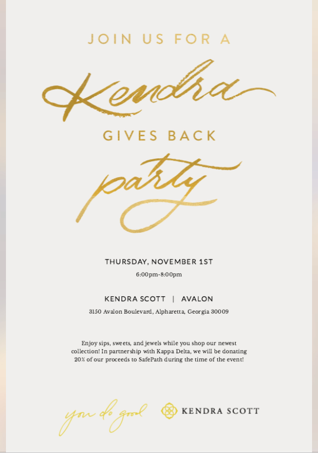 Kappa Delta Kendra Gives Back Party @ Kendra Scott - Avalon | Alpharetta | Georgia | United States