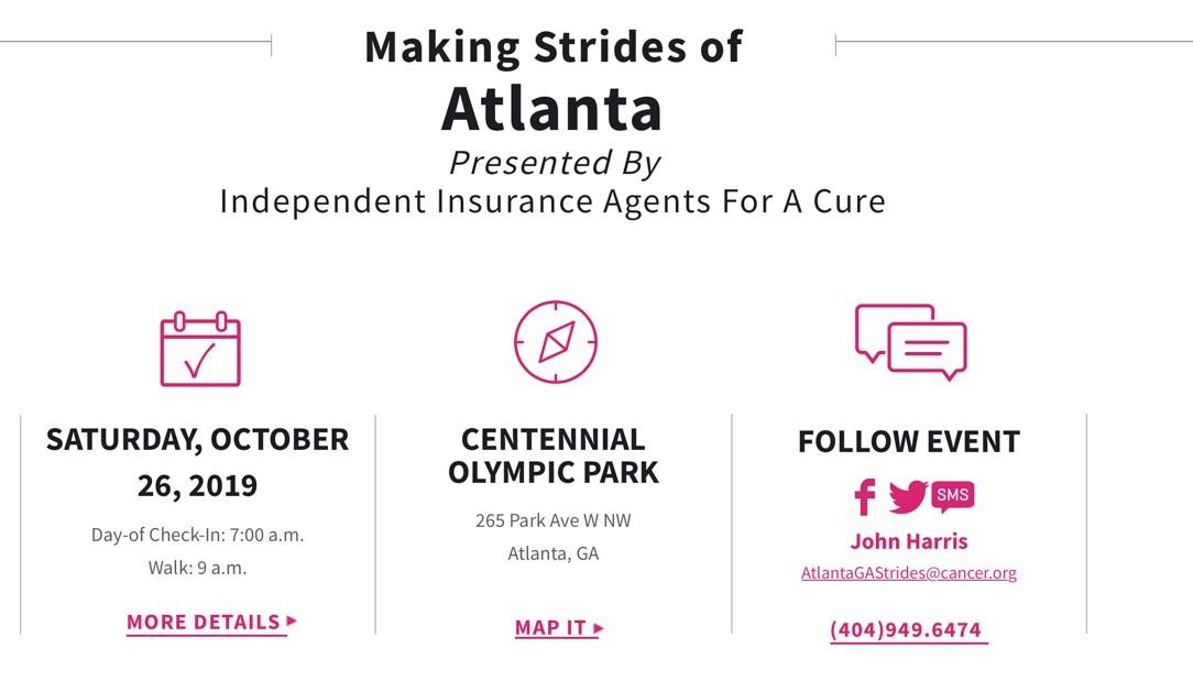 ZTA Making Strides Against Breast Cancer @ Centennial Olympic Park | Atlanta | Georgia | United States